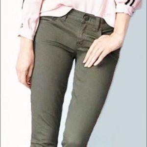 J.Crew Olive Green Toothpick Pants